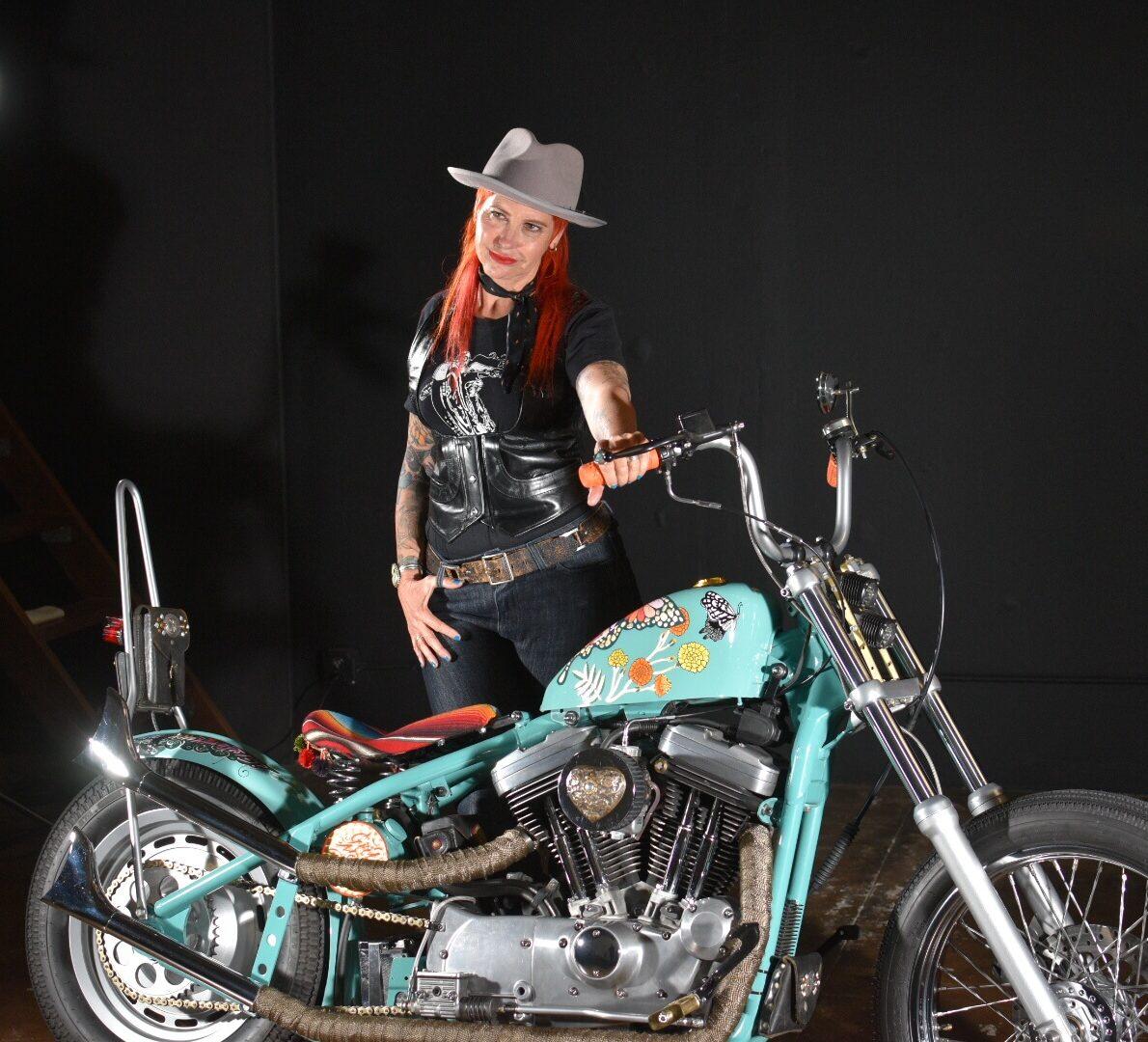 Katie Loftus and Frida bike